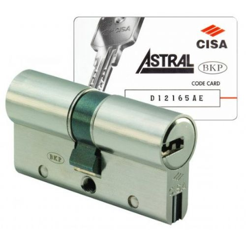 Cisa Astral S Anti-Snap Double Cylinders - Keyed Alike To Key Code
